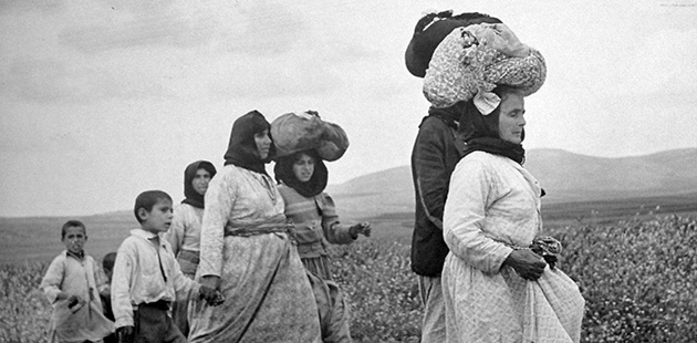 Genocide?: Palestinians evacuate the village of Zenin in 1948. Some scholars say that what is now called 'ethnic cleansing' constitutes a form of genocide.