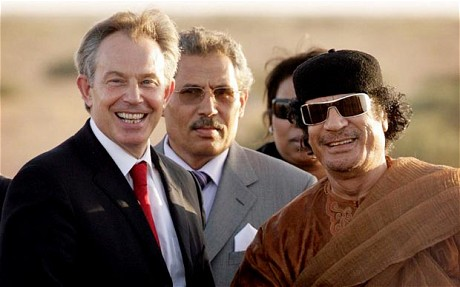Libya: Tony Blair 'too close' to Gaddafi regime, David Cameron claims